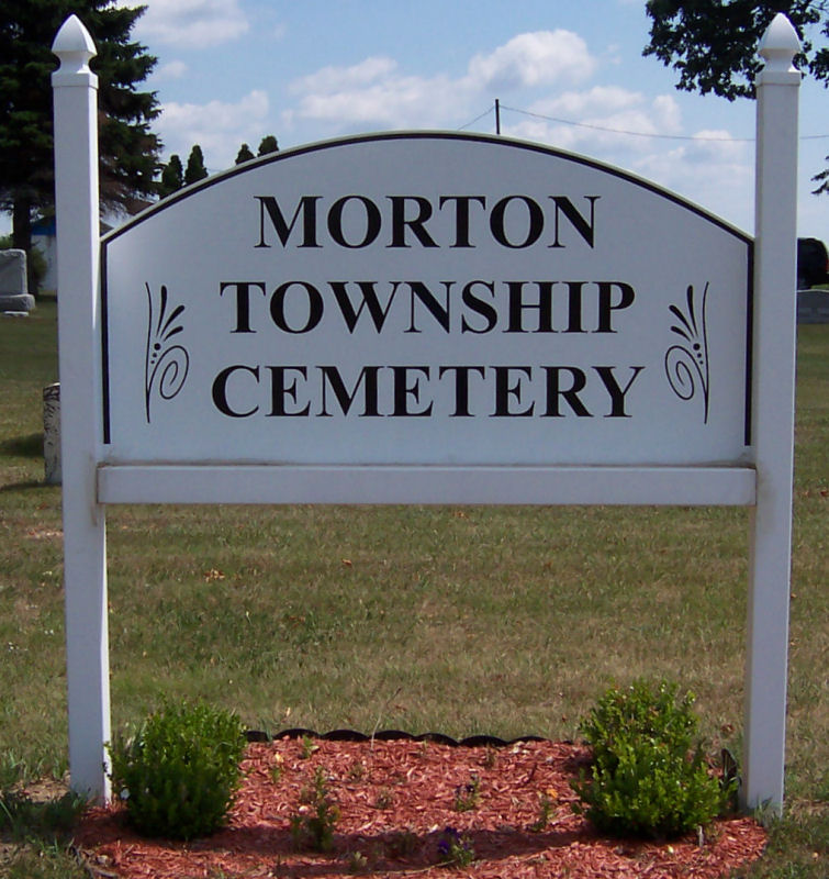 Morton Township Cemetery Sign